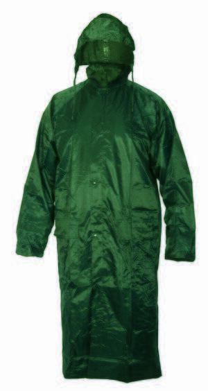 Kišna kabanica šivena VENTO zelena