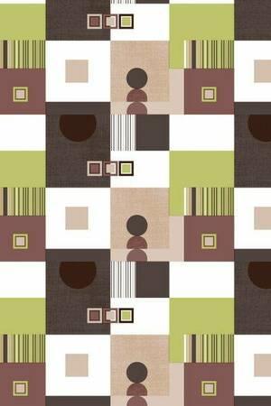 Mušema 1.4x20m  849/2 geometrijski oblici u braon, zelenoj i beloj boji